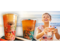 Velký Bubble tea s ovocnou příchutí | Slevomat