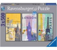 3x puzzle Ravenburger - á 500 dílků | Legenio.cz
