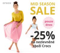 Sleva 25% na vše od Crocs | Urbanlux