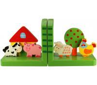 Dřevěné opěrky knih - Farma | Alza