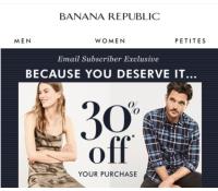 Banana Republic a Gap - sleva 30% na vše   BananaRepublic