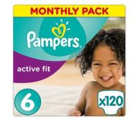 Plenky Pampers Active Fit, 120ks, 15+kg | Alza