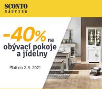 Sconto -40% na obývací pokoje a jídelny   Sconto