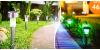LED solární zahradní lampy 10 ks kovové provedení | Hyperslevy
