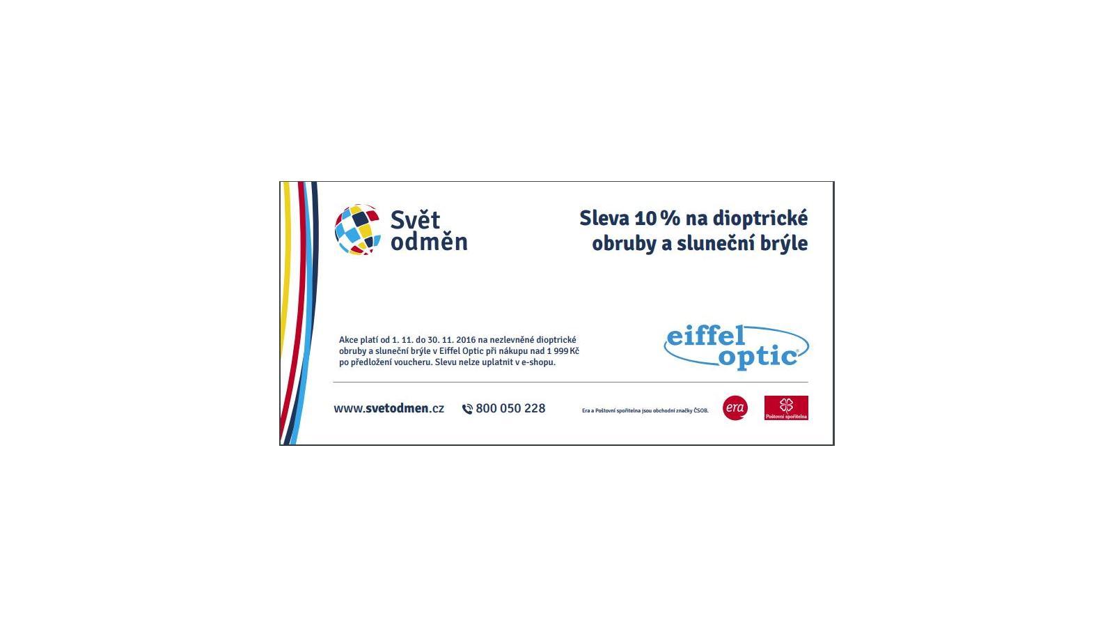 Eiffel Optic - slevový voucher -10% při nákupu nad 1900 Kč  07013666fe0
