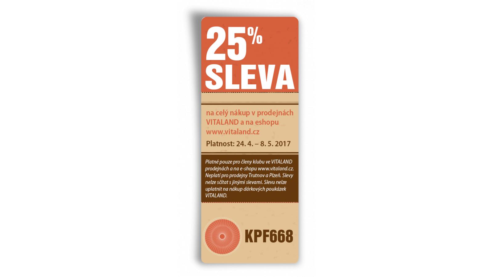 418e093672 Vitaland.cz - slevový kupon -25% na vše